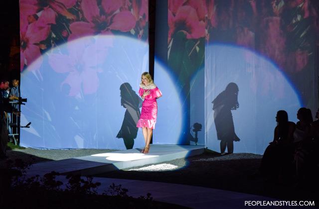 Evening lace dress, designer street style look Lei Lou, Alex Dojčinović