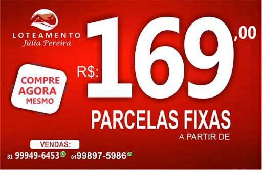 PARCELAS FIXAS DE A PARTIR DE 169,00