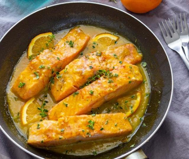 Orange Glazed Salmon #healthy #recipes