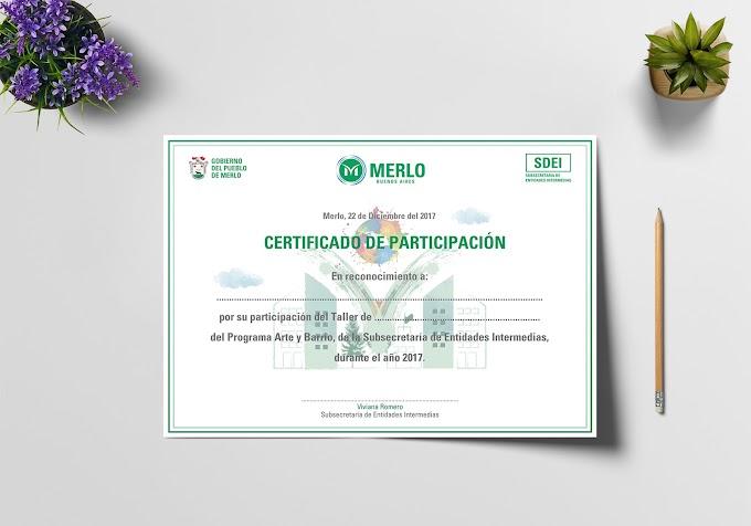 Certificado para la Subsecretaría de Entidades Intermedias