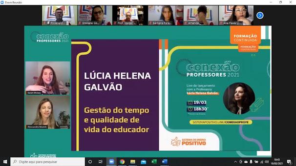 Conexão professores 2021 acontece e conecta todos os professores do colégio Santa Joana D'Arc.