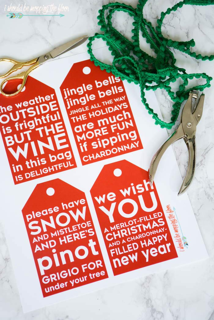 Wine Gift Tags