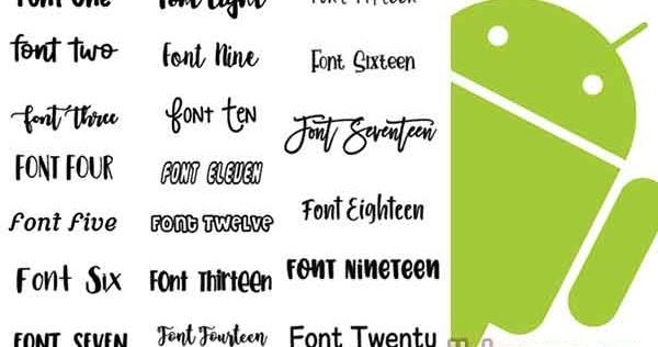 Download Download Font Pack Untuk Semua Aplikasi Android (12500 ...