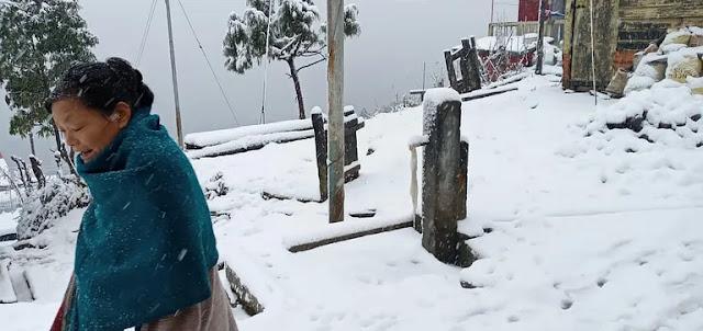 Snow fall in Darjeeling Tiger Hill