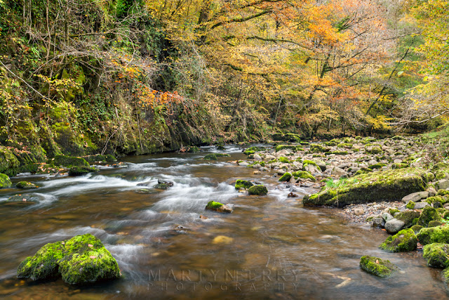 Autumn colours on the Afon Mellte in the Brecon Beacons by Martyn Ferry Photography