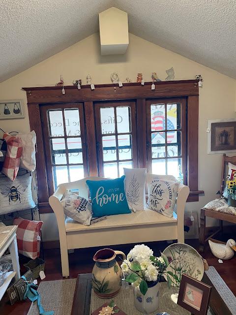 dormer room windows color photo Grafton Illinois coffee antiques shop Lightkeepers Coffee 101 E Main St Sears Vallonia