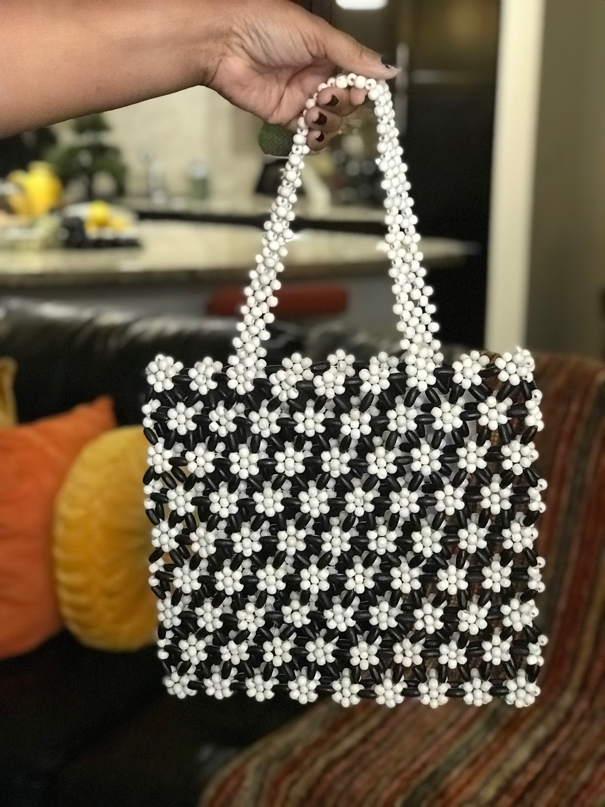 Image:Soetimes I shop  Breaded Floral Handbag Beaded from Urban Outfitters. Bought by Tangie Bell to share on her Outfits