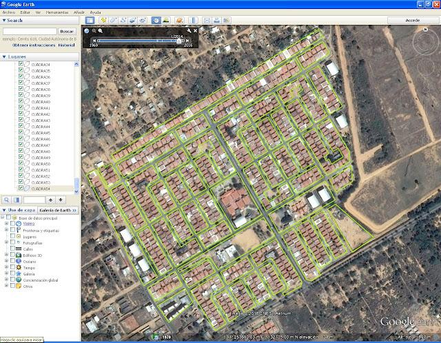 Visión completa del trabajo en Google Earth