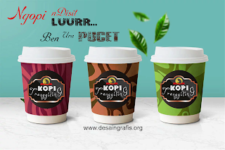label coffe design cdr
