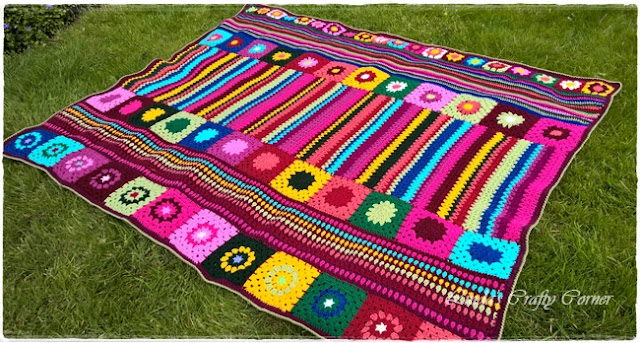 blanket crochet easy sections free pattern charity