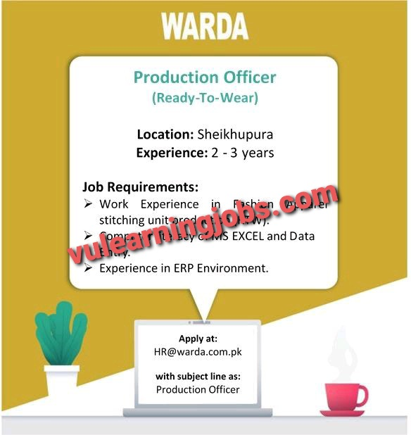 WARDA Designer Collection (PVT) LTD Jobs In Pakistan May 2021 Latest | Apply Now