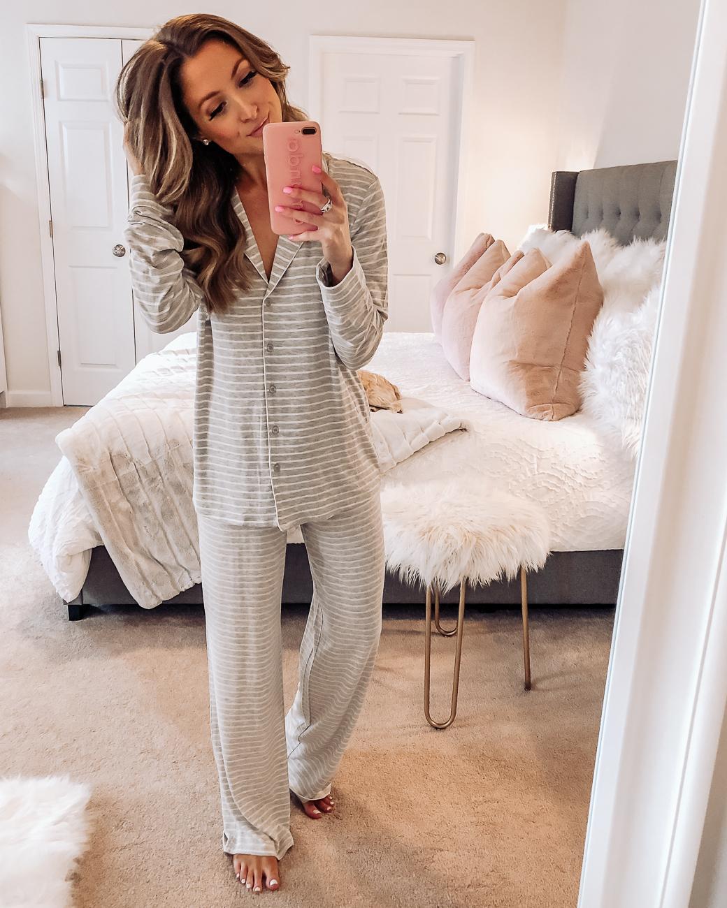 nordstrom grey moonlight pajamas