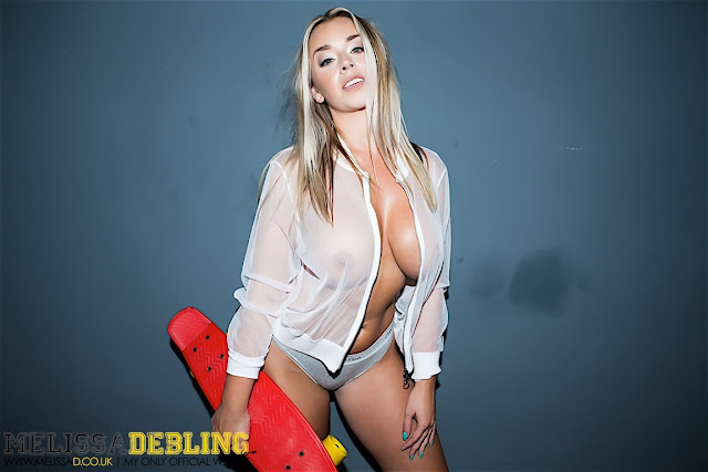 Melissa Debling big boobs skater girl sexy side boobs naked