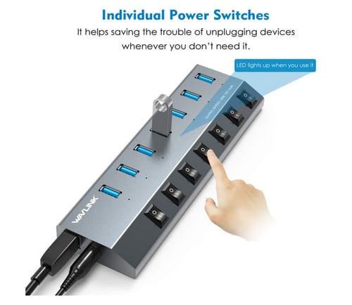 WAVLINK USB3.0 Superspeed Powered Hub