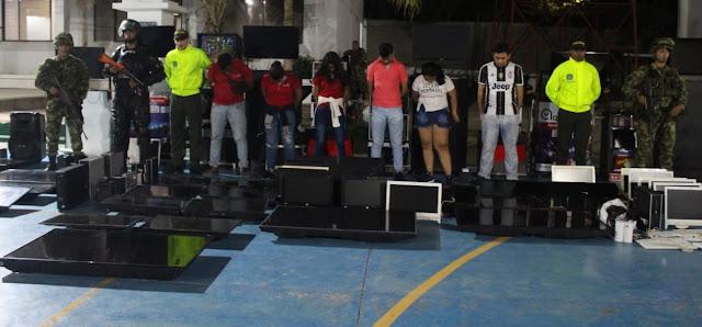 Seis capturados en batida contra apuestas ilegales en Riohacha
