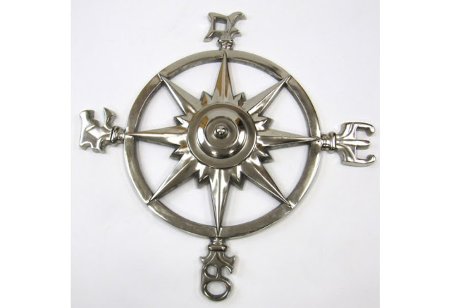 Rose Compass Nautical Wall Decor
