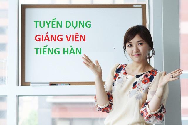 Giảng viên tiếng Hàn 2020