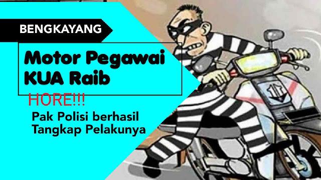 Motor Pegawai KUA Raib, Hore!!! Pak Polisi berhasil Tangkap Pelakunya