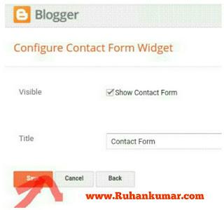 Blogger Blog me Contact Form kaise Banaye hindi jankari