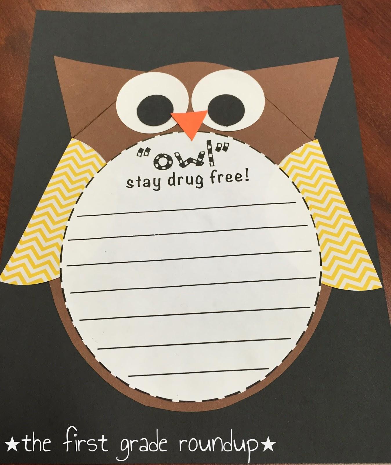 Drug Free Owl Writing Craft