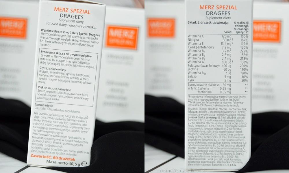 Merz Spezial Dragees - czyli suplement diety na zdrowe włosy, skórę i paznokcie
