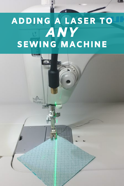 Adding a laser to ANY sewing machine