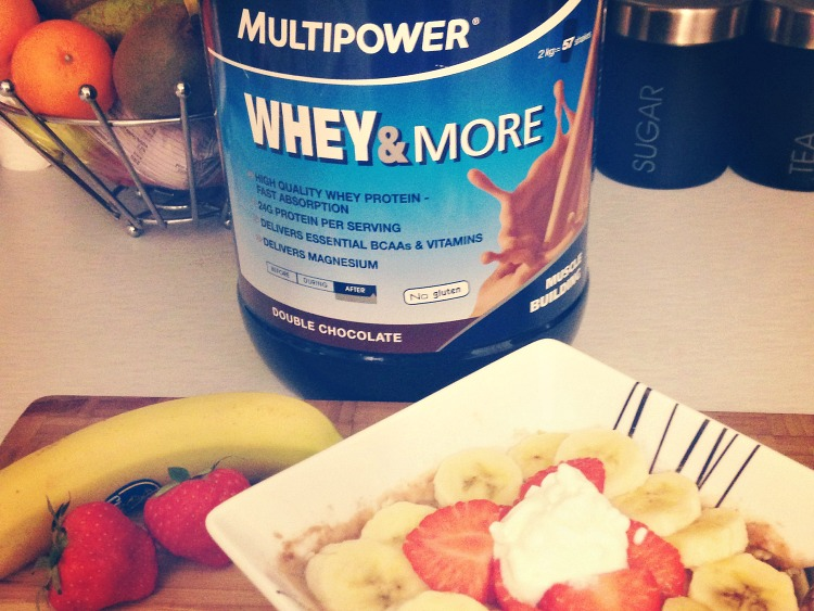 multipower whey and more protein in chocolate