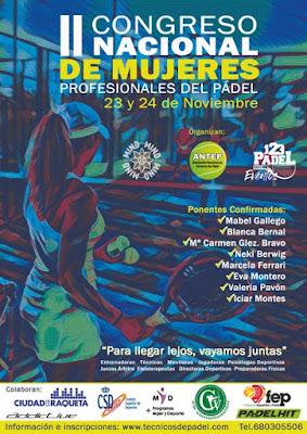 II Congreso Nacional de Mujeres Profesionales del Pádel en Madrid: 23 y 24 Noviembre 2019.