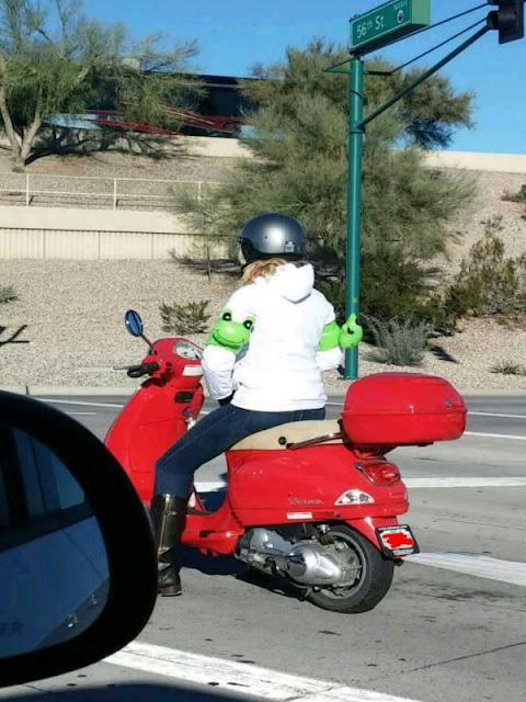 Woman wearing flat toys