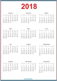 download free calendar 2018 printable in portrait format