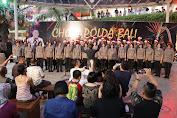 Menjaga Keamanan Bersama Masyarakat, Paduan Suara Polda Bali Hibur Masyarakat di Mall