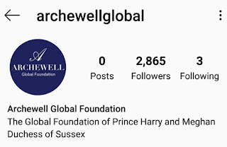 New Archewell Instagram account for the Duke and Duchess of Sussex