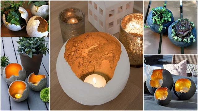 DIY Διακοσμητικές Σφαίρες από Τσιμέντο