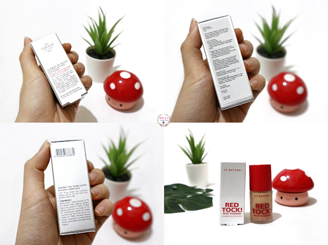 So Natural Red Tock Spot Powder Packaging Box