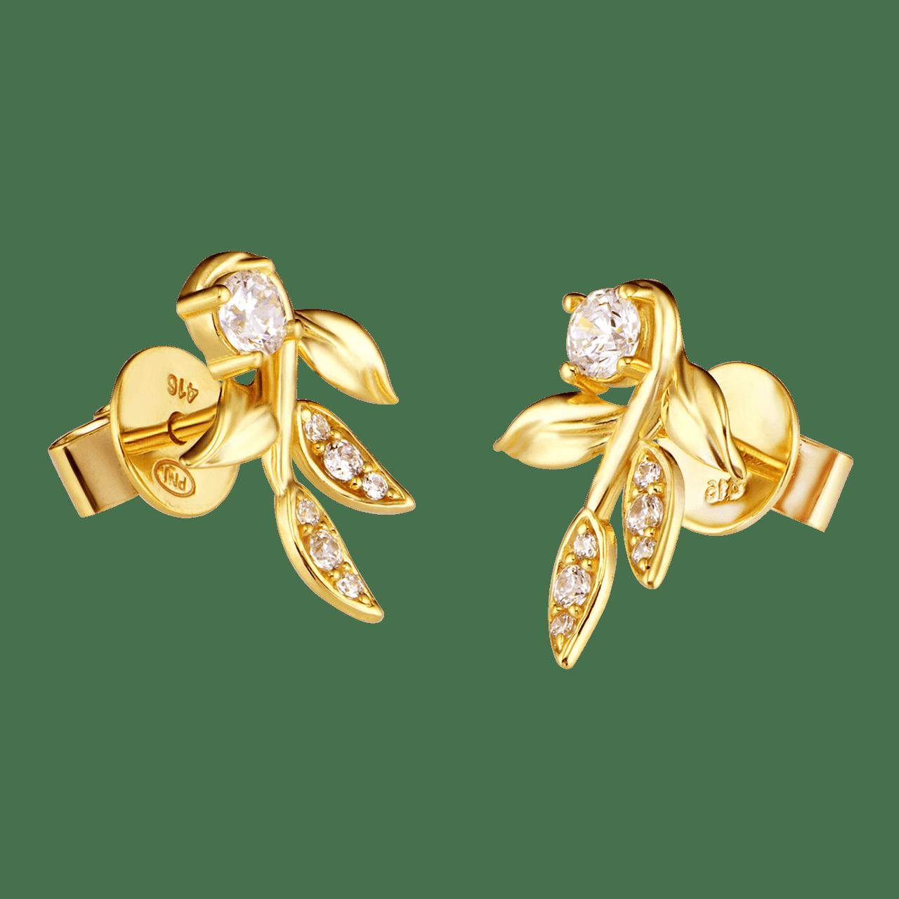 Bông tai Vàng 10K đính đá ECZ Swarovski PNJ Mystery XMXMY000153