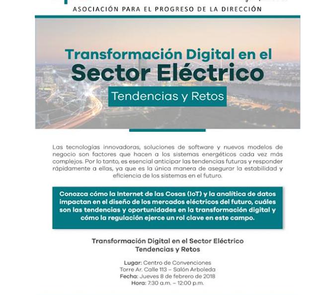 Transformación Digital en el Sector Eléctrico Tendencias y Retos mas inscripción clik en la imagen