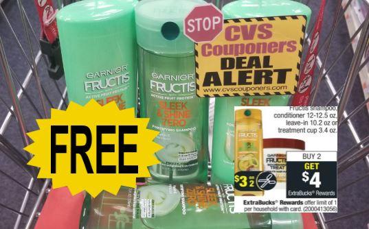 FREE Garnier Fructis Shampoo CVS