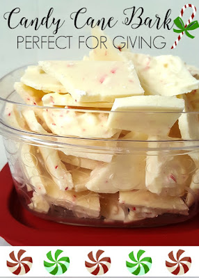 White chocolate candy cane bark recipe | diy beautify