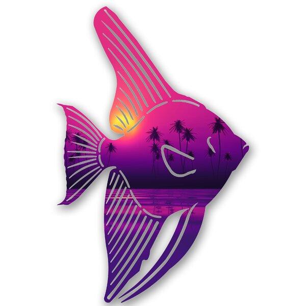 Steel Tranquil Tetra Fish 3D Wall Decor