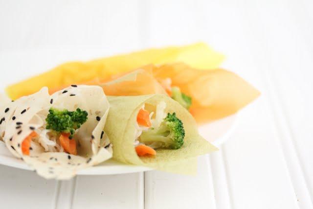 Noodle Salad Handrolls -  food-drink-recipes.com