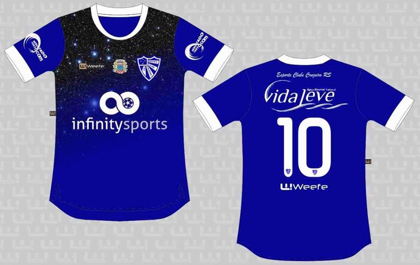 Weefe apresenta as novas camisas do Cruzeiro de Porto Alegre - Show ... 4564afade5d71