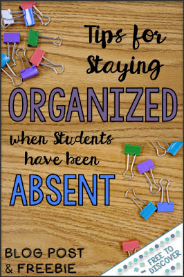Check out these tips for staying organized when students have been out.