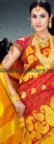 Heavy Gold Rani Haar Jewellery Designs
