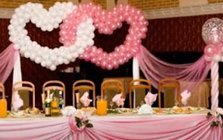 Impressionen Ballondekorationen zur Hochzeit.