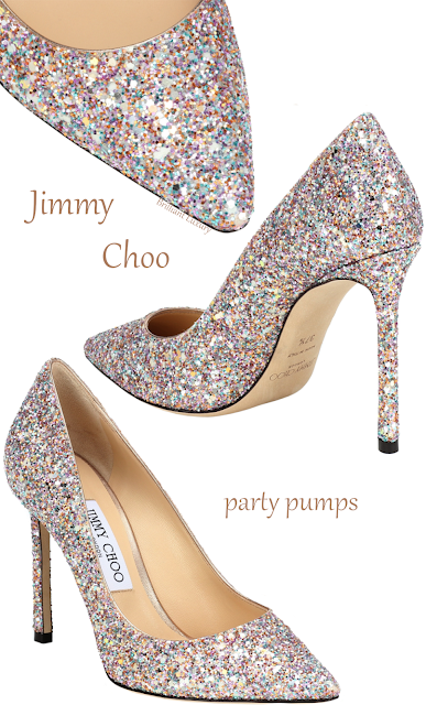 Jimmy Choo Romy colorful glitter evening pumps #brilliantluxury