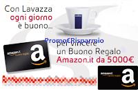 Logo Ogni giorno è buono per vincere con Lavazza : buoni Amazon da 50€ e fino a 5.000€
