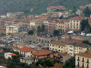An aerial view of Roccasecca, the town of D'Aquino's  birth in the Frosinone province in Lazio