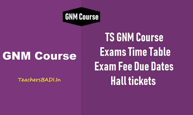 ts gnm course exams time table, exam fee due dates, hall tickets 2018,ts gnm course exams fee payment online application form,ts gnm general nursing midwifery course annual exams time table 2018