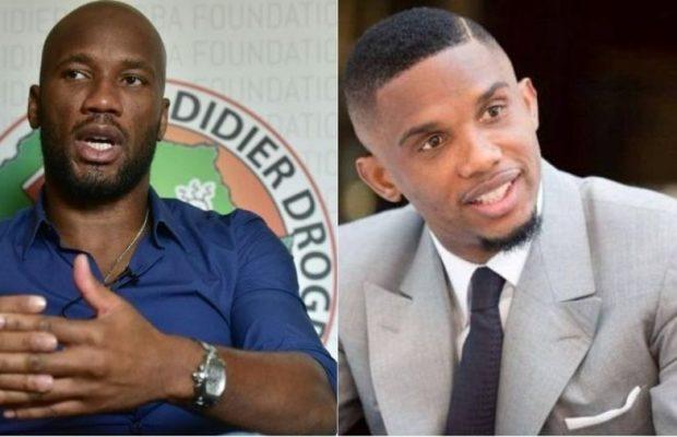 Eto'o et Drogba deviennent des collaborateurs officiels du président Ahmad à la CAF