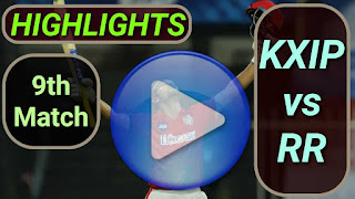 KXIP vs RR 9th Match